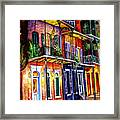 Walk Into The French Quarter Framed Print