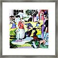 Walking In The Park Framed Print by Mindy Newman