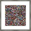 Wall Of Chewing Gum Seattle Framed Print