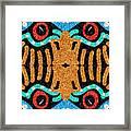 War Eagle Totem Mosaic Framed Print