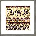 Warli Procession Framed Print