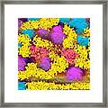 Was Multicolor Rain Framed Print