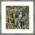 Waterfall On Lava Creek 1 Framed Print