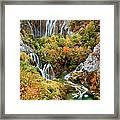 Waterfalls In Plitvice Lakes National Park Framed Print
