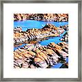 Watson Lake At Prescott Az Framed Print