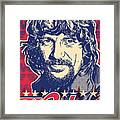 Waylon Jennings Pop Art Framed Print