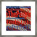 We The People Of The United States Of America Framed Print