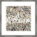 Welcome Seashell Background Framed Print
