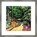 Welcome To The Garden Framed Print