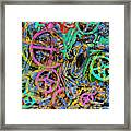 Welcome To The Machine Green Framed Print