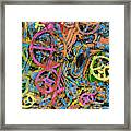 Welcome To The Machine Pink Orange Framed Print