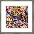 Wheel Of Fortune Pat Sajak And Vanna White Framed Print