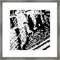 Which Way Up  -- Hand-pulled Linoleum Cut Framed Print