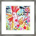 Whimsical Chicken Framed Print