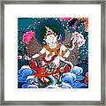 White Jambhala 4 Framed Print
