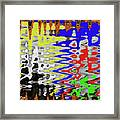 White Prickly Poppy Flower Color Abstract Framed Print