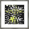 White Yellow On Black Framed Print