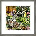 Wicker Chair Framed Print