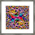 Wicker Marble Rainbow Fractal Framed Print