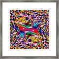 Wicker Marble Rainbow Fractal Framed Print