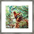 Wild Bear Peek-a-boo Watercolour Framed Print