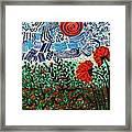 Wild Flowers Under Wild Sky Framed Print