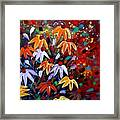 Wildflowers At Sunset Framed Print