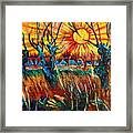 Willows At Sunset - Study Of Vincent Van Gogh Framed Print