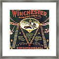 Winchester Double W Cartridge Board Framed Print
