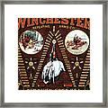 Winchester W Cartridge Board Framed Print