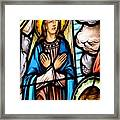 Window Detail The Assumption Framed Print