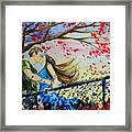 Windy Kiss Framed Print