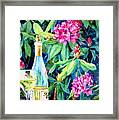 Wine And Rhodies Framed Print