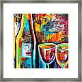 Wine Lovers Abstract Framed Print