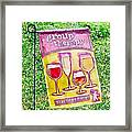 Wine Sign Framed Print