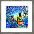 Winter And The Tug Boat 2 Framed Print