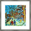 Winter  Walk In The City Framed Print
