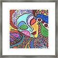 Woman With Scarf Framed Print