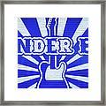Wonder Bar - Sign Framed Print