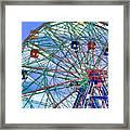 Wonder Wheel Amusement Park 3 Framed Print