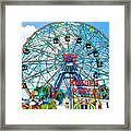 Wonder Wheel Amusement Park 6 Framed Print
