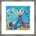 Wonder Wheel Amusement Park 7 Framed Print