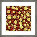 Wood And Gold Framed Print