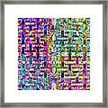 Woven Abstract Framed Print