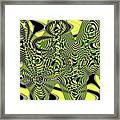 Yellow And Black #3 Abstract Framed Print