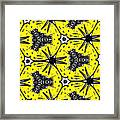 Yellow And Black Abstract Framed Print
