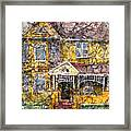 Yellow Batik House Framed Print