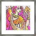 Yellow Devi Framed Print