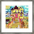Yellow Dog House Framed Print