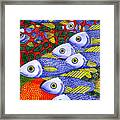 Yellow Fins Framed Print